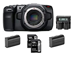 with Core SWX Powerbase Edge Battery /& 5pck Cleaning Wipes Bundle EF Mount Blackmagic Design Pocket Cinema Camera 6K