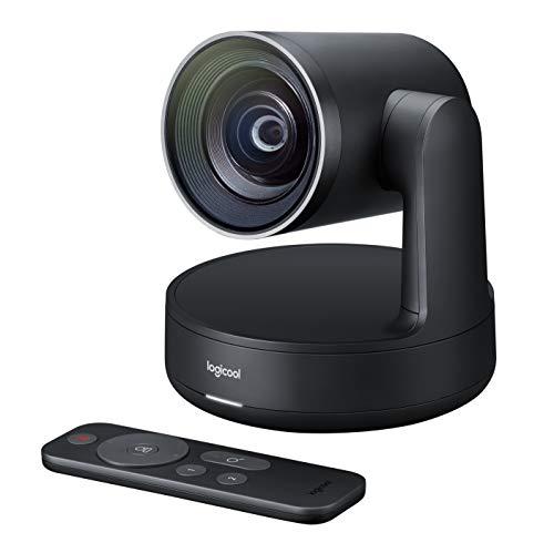 Logitech 960-001224 RALLY Plus, Ultra-HD Konferenzkamera mit Zubehör, schwarz