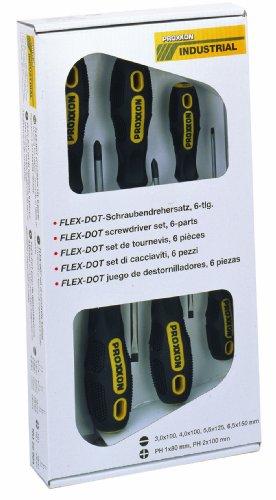 Proxxon 22604 FLEX-DOT Schraubendreher-Satz, Schlitz und Phillips, 6-teilig