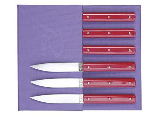 Coffret de couteaux de table rouge