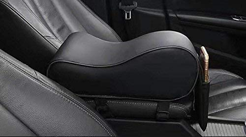 kaungka Waterproof Car Handrail Box Car Armrest Pad Center Consoles Cushion Cover Pillow Memory Foam Soft Comfortable Compatiable with Camry Most Cars Suvs(black)