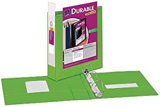 """Avery174; 2"""" Durable Ring Binder with Clear Cover - Green"""