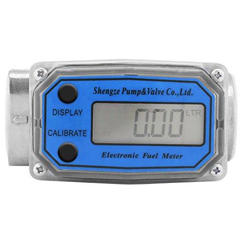 Carburante Flussometro Flussometro turbina, diesel, benzina, cherosene Fuel Flow Meter digitale con display LCD, 2,5cm Fnpt Inlet/Outlet, Blue