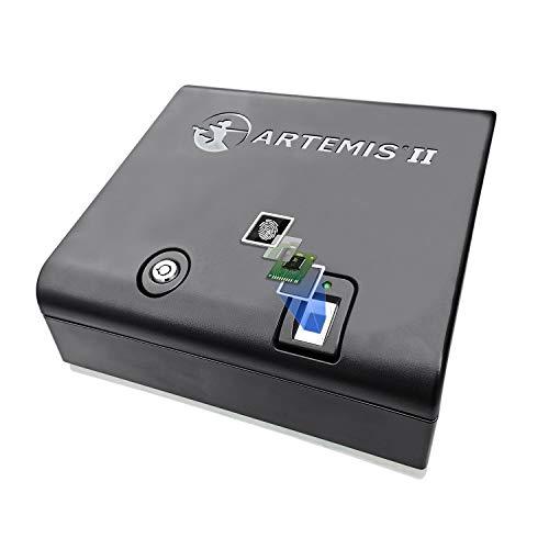 Artemis Biometric Handgun Safe, Pistol Safe with Pops-Open Lid, Fast Finger Print Access Child Resistant Case