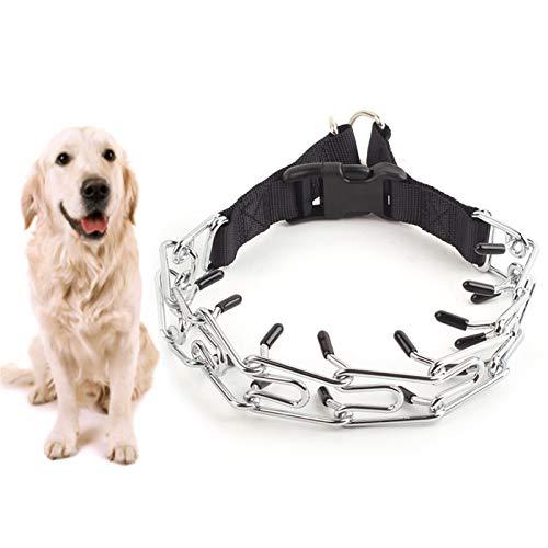 Heroicn Cuello de Acero Inoxidable STHKE PLINCE Prong Prong Collar Collar con Presente RÁPIDA Abajo Abajo para PEQUEÑOS Perros Medios Medios (Size : 3.0mm*50cm)
