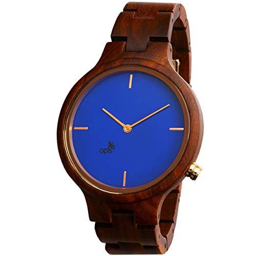 Opis UR-F1 (Sándalo Rojo) Reloj de Madera para Mujer/Reloj de Pulsera de Madera/Reloj Pulsera Vintage para Mujer
