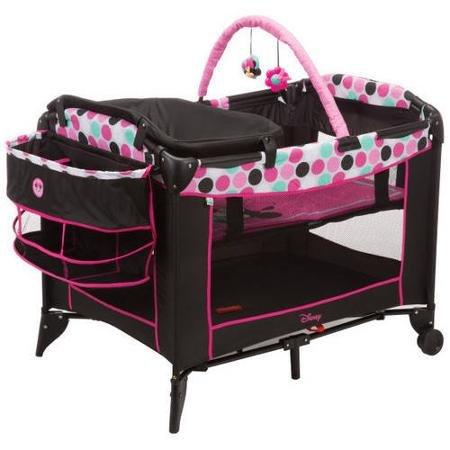Disney Baby, Infant Play Yard, Play Pen With Changing Station (Minnie Dottie)
