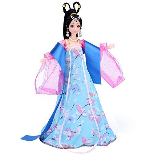 Uteruik Ropa de vestir de muñeca antigua china para 12 arti