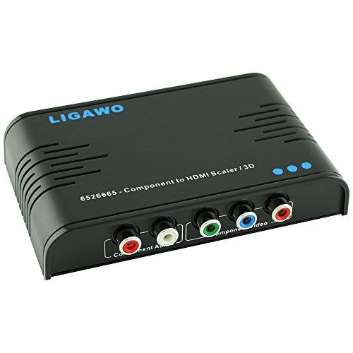 Ligawo 6526665 – YpbPr Component zu HDMI Konverter 720p/ 1080p Upscaler 3D