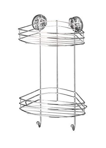 WENKO Vacuum-Loc® Eckregal 2 Etagen Regal Ablage Wandablage Aufbewahrung