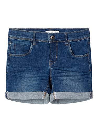 NAME IT Nkfsalli Dnmteja 3323 Shorts Noos Pantalones Cortos, Mezclilla Azul Oscuro, 116 para Niñas