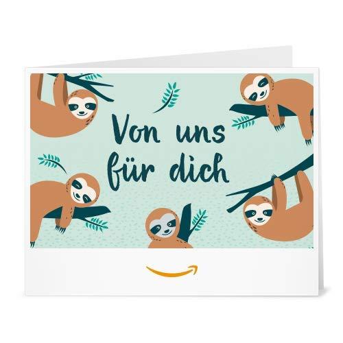 Amazon.de Gutschein zum Drucken (Faultiere)
