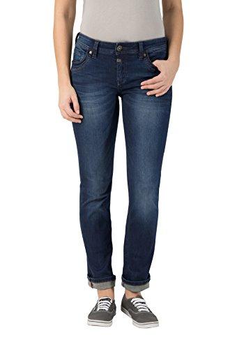 Timezone Damen Slim Tahila Super Stretch Straight Jeans,Blau (Dark Royal Wash 3012), W26/L34