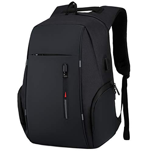 Travel Laptop Backpack Water Resistant Anti-Theft Bag with USB Charging Port 14/15.6 Inch Computer Business Backpacks for Women Men College School Student Gift,Bookbag Casual Hiking Daypack,Black