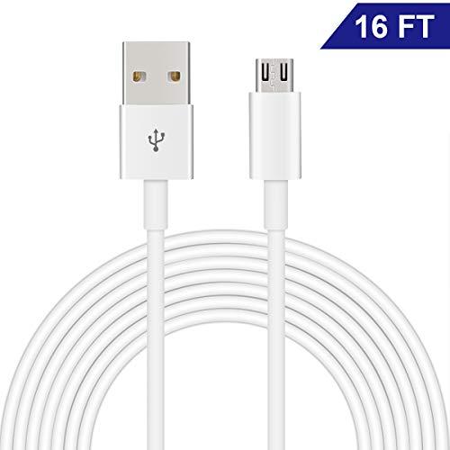 Cable Micro USB de Dericam para cámaras de Seguridad domésticas y teléfonos/tabletas...