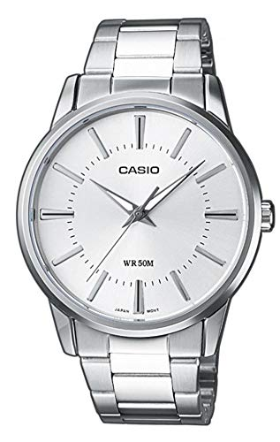 Casio Collection Herren Armbanduhr MTP-1303PD-7AVEF, Silber