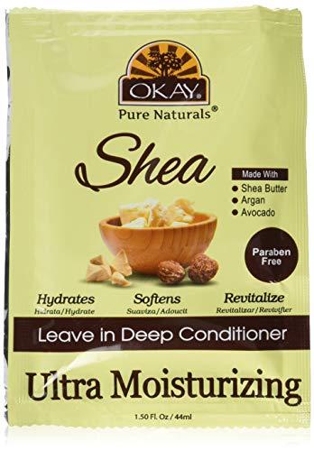 Okay Acondicionador Sin Enjuague Ultra Hidratante - Con Shea Butter, Papaya & Jojoba Oil 237 ml