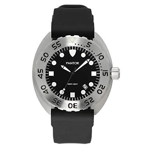 Reloj de Buceo Pantor Nautilus 515. Reloj de Buceo de Cuarzo Suizo de 200 m, 45 mm, con Bisel Giratorio y Correa de Goma