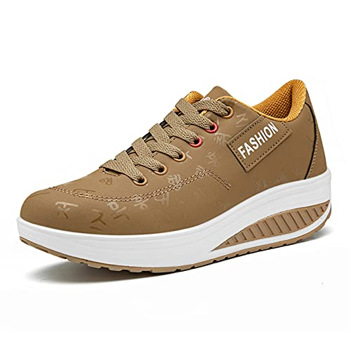 Minjet Mujer Malla Zapatos para Caminar Plataforma Calzado Deportivo de cuña Casual Mocasines Running Transpirable Ligero Zapatillas