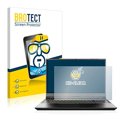 brotect 1-Pack Screen Protector compatible with Schenker XMG Pro 15' - HD-Clear Protection Film