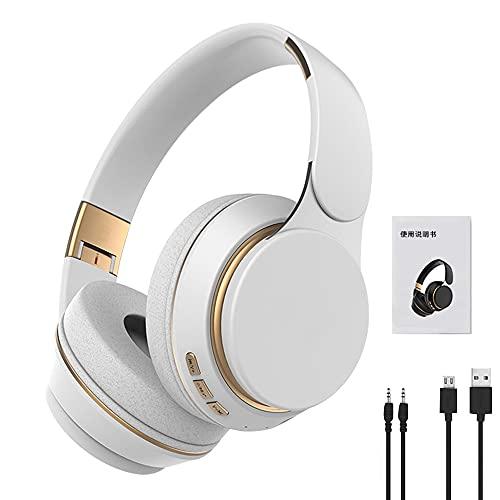 KIHL Auriculares inalámbricos Auriculares Bluetooth 5,0 Auriculares estéreo Plegables Ajustables con micrófono para teléfono Pc TV