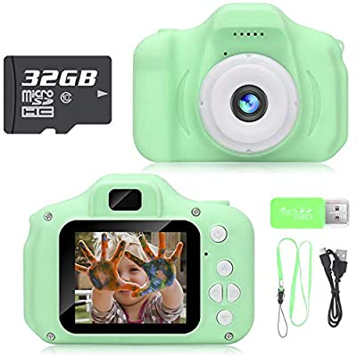 Hachi's Choice Kids Camera,Toys for 3-8 Year Old Boys,Gifts for Boys Age 3 4 5 6 7 8,Green(32G SD Card Included)