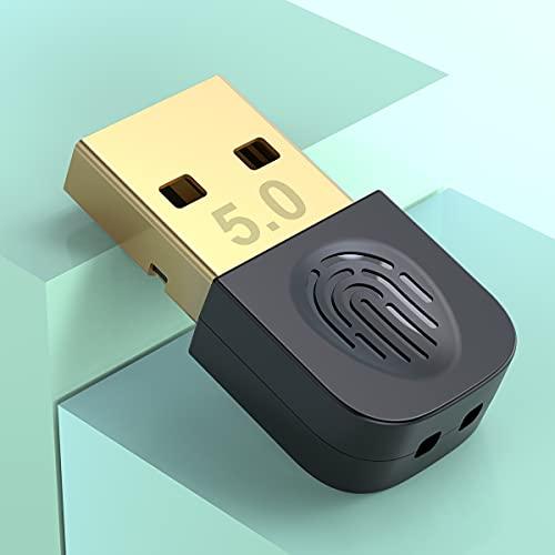 Mini USB 5.0 Adaptador Bluetooth Dongle para PC, Receptor Bluetooth para computadora portátil,mouse,teclado, auriculares,parlantes,controladores PS4/Xbox — Transmisor Bluetooth para Windows 7/8/8.1/10