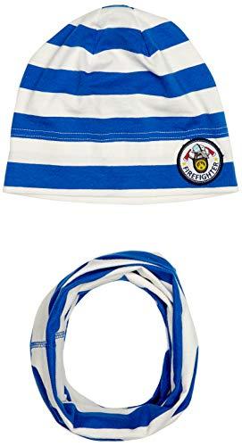 Salt & Pepper Jungen 03128131 Mütze, Schal & Handschuh-Set, Blau (Strong Blue 483), 53 (Herstellergröße: 53cm)