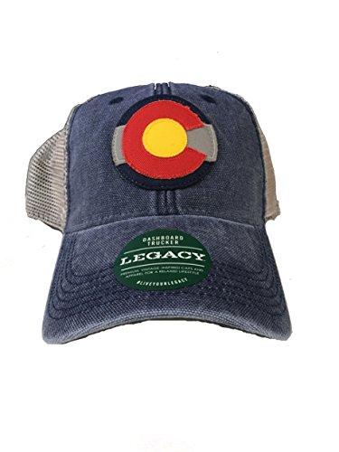 Legacy Athletic Colorado Flag Logo DTA Trucker Navy/Grey