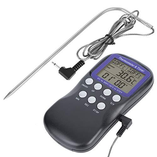 Thermomètre électrique de nourriture d'affichage d'affichage à cristaux liquides de BBQ, thermomètre de viande numérique de sonde pliable de congé sûr de four, pour la cuisson de viande de