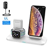 Wireless Charger, 3 in 1 Wireless Charging Station for Apple Watch and iPhone Airpods, Wireless Charging Stand...