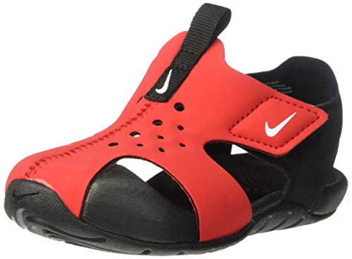 Nike Unisex Kinder Sunray Protect 2 (td) Durchgängies Plateau Sandalen, Mehrfarbig (University Red/White/Black 601), 21 EU