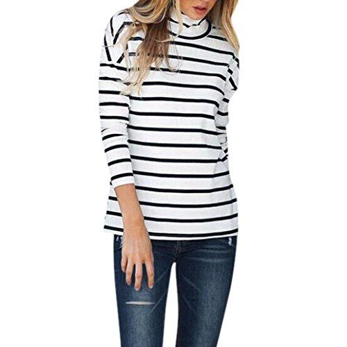 Longra shirt met lange mouwen voor dames, blouse, zonder rug