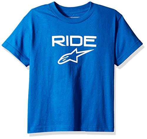 Alpinestars Kid's Ride 2.0 T-Shirt Manches Courtes Garçon, Bleu/Blanc, FR : M (Taille Fabricant : M)