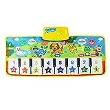 Bascar Alfombra con música de piano para niños y niñas, con sonido en forma de puzzle, para jugar en familia