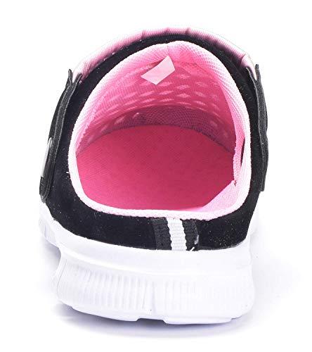 Eagsouni Unisex Clogs Hausschuhe Muffin Unten Alltägliche Drag Pantolette Sommer Beach Schuhe Sandalen für Damen Herren, Pink, 37 EU