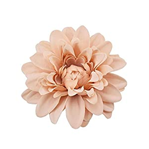 Artificial Flower 30pcs Artificial Dahlia Silk Flower White Rose Heads for Wedding Decoration DIY Wreath Gift Box Scrapbooking Craft Fake Flowers