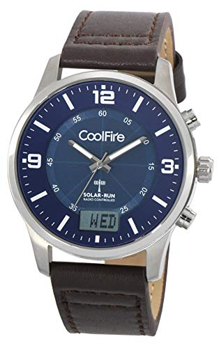 Solar Atomic I Aviator Solar Power Radio Controlled Watch by Coolfire (1067B)