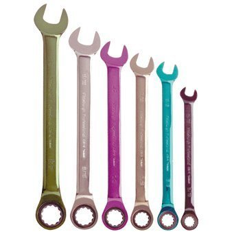 Pittsburgh 6 Piece SAE Ratcheting Color Combo...