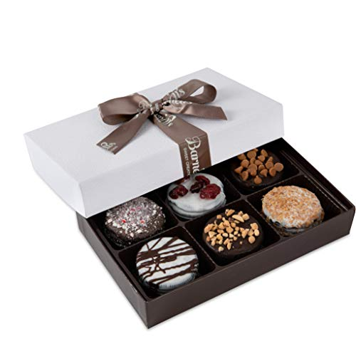 Barnett's Chocolate Cookies Favors Gift Box Sampler, Gourmet Christmas Holiday Corporate Food...