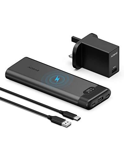Aideaz 20000mAh - QC 3.0 + USB-C PD 18W + Wireless 🔁⚡📶✅