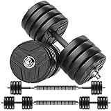 RUNWE Adjustable Dumbbells Set, Weights Dumbbells Barbell Weight Free Weight Set 40/60/80/100 lbs...