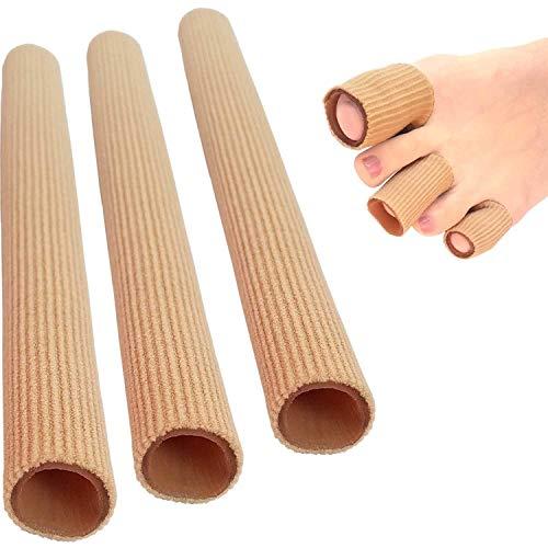 3 almohadillas de silicona para los dedos de los pies, vendaje para la manguera, protección contra la presión