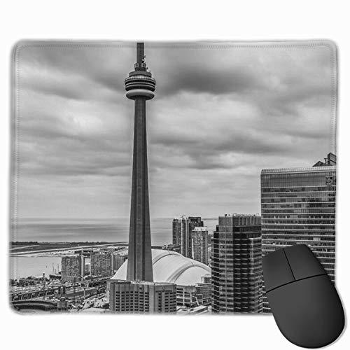 CN Tower Gaming Muis Mat Grootte 25x30cm Bureau Toetsenbord Mat Grote Muis Pad Voor Computer Desktop PC Laptop
