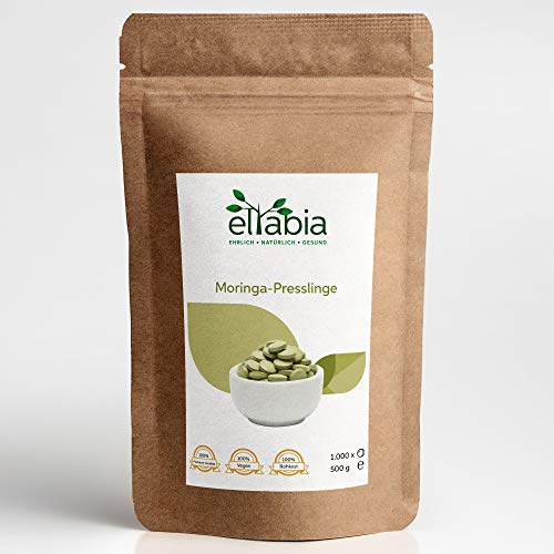 eltabia Moringa Presslinge 1000 Tabletten Maxi Pack 500g hochdosiert Rohkostqualität vegan