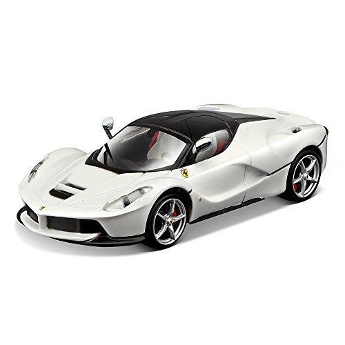 Bburago 15636902 W – 1 : 43 Ferrari Signature Series Laferrari véhicule, Blanc