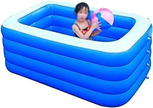 OYY Manufacture Piscinas hinchables Piscinas inflables Pool Inflable Azul, Pintura Resistente al Desgaste de la Piscina Rectangular Nadando en la Piscina de Verano (Color : 4 Rings, Size : 260cm)