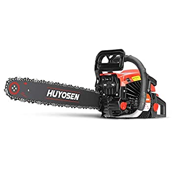 HUYOSEN 45CC 2-Stroke Gas Powered Chainsaw 18-Inch Chainsaw Cordless Handheld Gasoline Power Chain Saws for Cutting Trees Wood Garden and Farm 4518L