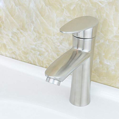 Grifo (agua). Grifo de 1 mpa para lavabo, grifo de acero inoxidable 304 moderno y simple, lavabo elevado, ahorro de agua y salpicaduras en el inodoro (tamaño A)