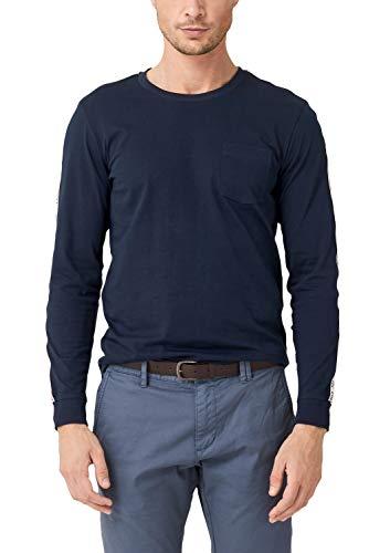 s.Oliver Herren 13.909.31.6661 Langarmshirt, Blau (Fresh Ink 5952), Large (Herstellergröße: L)